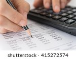 accountant verify the accuracy... | Shutterstock . vector #415272574
