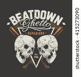 grunge style art of skulls and...   Shutterstock .eps vector #415273090