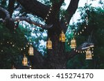 night wedding ceremony with a... | Shutterstock . vector #415274170