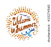 logo with welcome to summer... | Shutterstock .eps vector #415274560