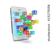 icon app fall in smart phone.... | Shutterstock . vector #415275058