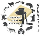 universal food chopper | Shutterstock .eps vector #415276048