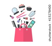 make up concept flat... | Shutterstock . vector #415278400
