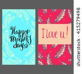 vector mothers day cards with... | Shutterstock .eps vector #415279498
