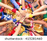 hands on top each other sport... | Shutterstock . vector #415281460