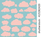 vector illustration of clouds... | Shutterstock .eps vector #415282420