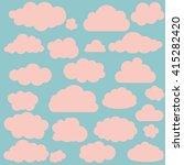 vector illustration of clouds... | Shutterstock .eps vector #415282420