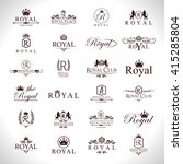 royal icons set isolated on... | Shutterstock .eps vector #415285804