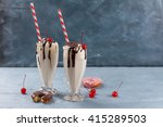 milkshake  smoothie  with... | Shutterstock . vector #415289503
