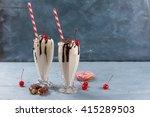 milkshake  smoothie  with...   Shutterstock . vector #415289503
