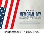 memorial day. remember and... | Shutterstock .eps vector #415297723