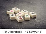 Mahjong Board Game Pieces Lying ...
