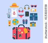 set of flat vector icons for... | Shutterstock .eps vector #415303558