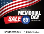 memorial day sale banner... | Shutterstock .eps vector #415306663