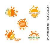 orange juice logo set. vector... | Shutterstock .eps vector #415308154