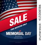 memorial day sale banner... | Shutterstock .eps vector #415308586