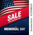 memorial day sale banner... | Shutterstock .eps vector #415308619