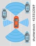 automobile sensors use in self... | Shutterstock .eps vector #415312069