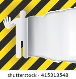 construction sign paper... | Shutterstock .eps vector #415313548