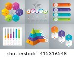 infographic design vector and... | Shutterstock .eps vector #415316548