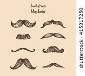 mustache set  collection | Shutterstock .eps vector #415317250