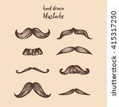 mustache set  collection | Shutterstock .eps vector #415317250