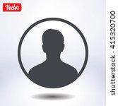 user sign icon. person symbol.... | Shutterstock .eps vector #415320700