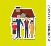 family design  relationship and ... | Shutterstock .eps vector #415343974