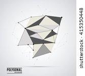 polygonal design. geometric... | Shutterstock .eps vector #415350448