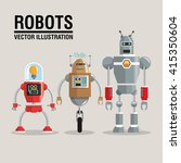 robot set design. technology... | Shutterstock .eps vector #415350604