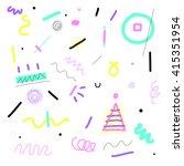 seamless doodle geometry...   Shutterstock .eps vector #415351954