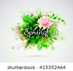 the spring composition with... | Shutterstock .eps vector #415352464