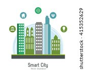 smart city design. social media ... | Shutterstock .eps vector #415352629