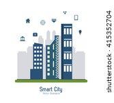 smart city design. social media ... | Shutterstock .eps vector #415352704