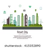 smart city design. social media ... | Shutterstock .eps vector #415352890