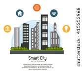 smart city design. social media ... | Shutterstock .eps vector #415352968