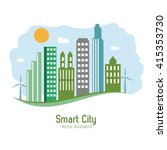smart city design. social media ... | Shutterstock .eps vector #415353730