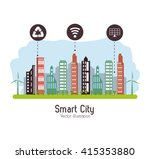 smart city design. social media ... | Shutterstock .eps vector #415353880