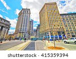 centre street view in civic... | Shutterstock . vector #415359394