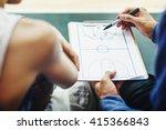 basketball player sport game... | Shutterstock . vector #415366843