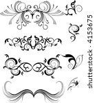 ornaments  design elements  ... | Shutterstock .eps vector #4153675