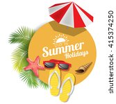 summer background | Shutterstock .eps vector #415374250