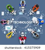 technology connection... | Shutterstock . vector #415375909
