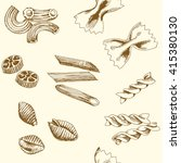 seamless pattern of pasta.... | Shutterstock .eps vector #415380130
