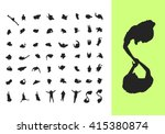 silhouettes from above | Shutterstock .eps vector #415380874