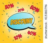 discount  comic art vector...   Shutterstock .eps vector #415383796