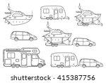 travel line icons. minivan ...   Shutterstock .eps vector #415387756