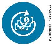 blue simple circle dollar cash...