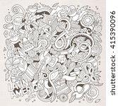 cartoon hand drawn doodles... | Shutterstock .eps vector #415390096