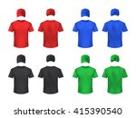 basebal cap and t shirt front... | Shutterstock .eps vector #415390540